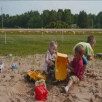 Little ones having fun in the sandbox!